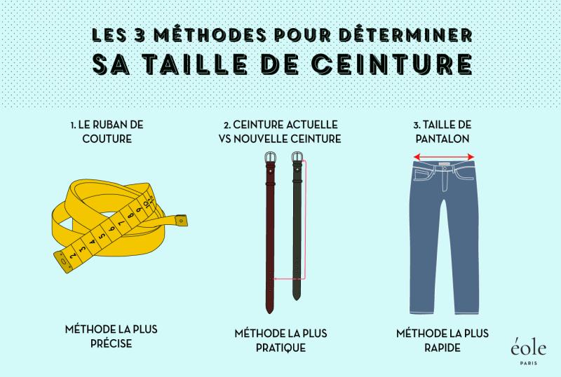 3 methodes pour determiner sa taille de ceinture - EOLE Paris 5554135d4d8