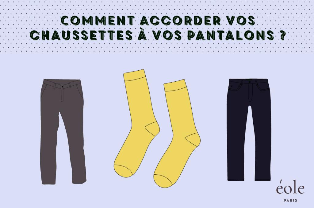 Comment accorder vos chaussettes avec vos pantalons ? EOLE PARIS
