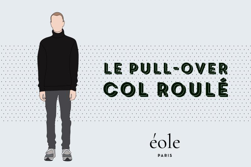 Le pull-over col roulé - EOLE PARIS