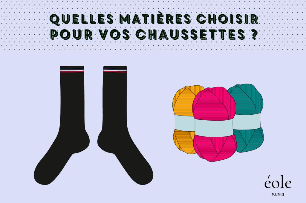 Quelles matières pour vos chaussettes ? EOLE PARIS