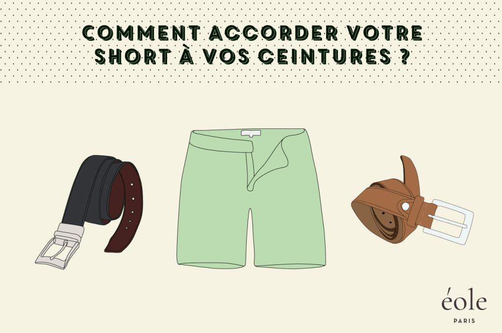 Comment accorder votre short avec vos ceintures ? ÉOLE PARIS