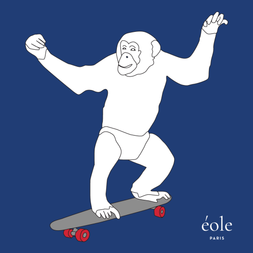 Monkey Skate Blue - EOLE Paris