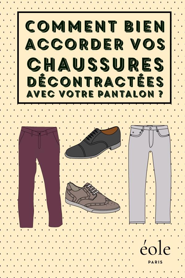 Comment bien accorder vos chaussures avec votre pantalon ? EOLE PARIS
