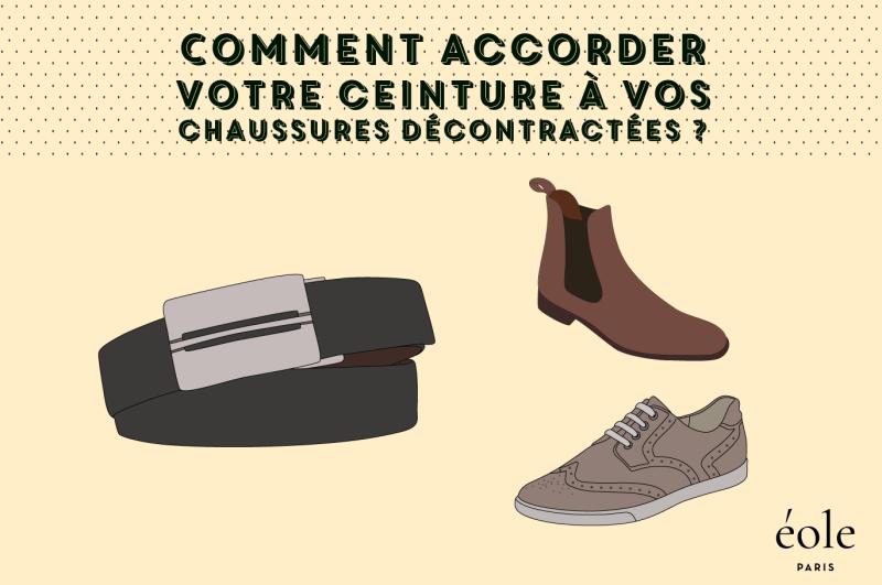 12e2d067dfc Comment accorder vos chaussures décontractées avec votre ceinture   EOLE  PARIS