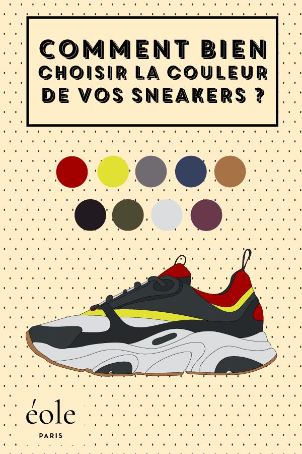 Comment bien choisir la couleur de vos sneakers ? EOLE PARIS