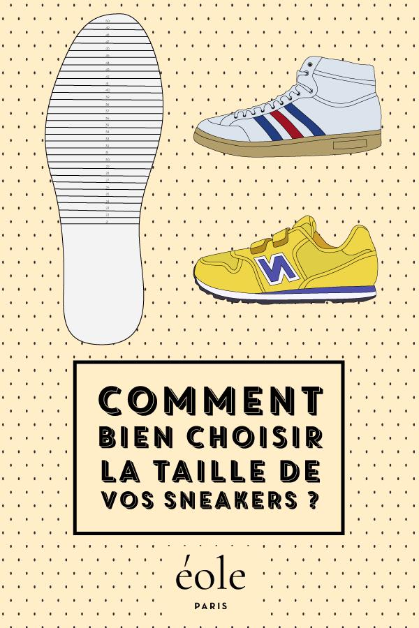 Comment bien choisir la taille de vos sneakers ? EOLE PARIS