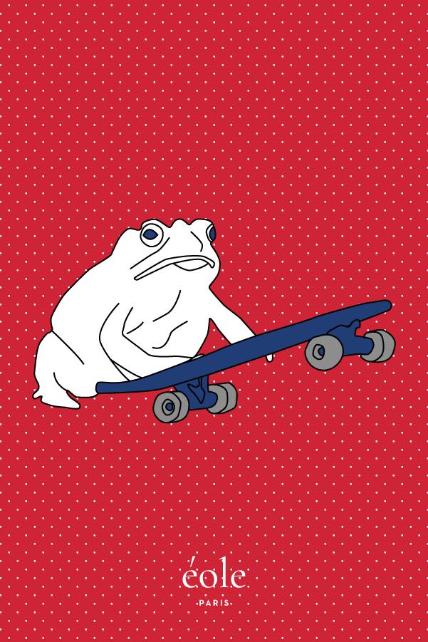 Grenouille et Skate rouge - EOLE Bleu