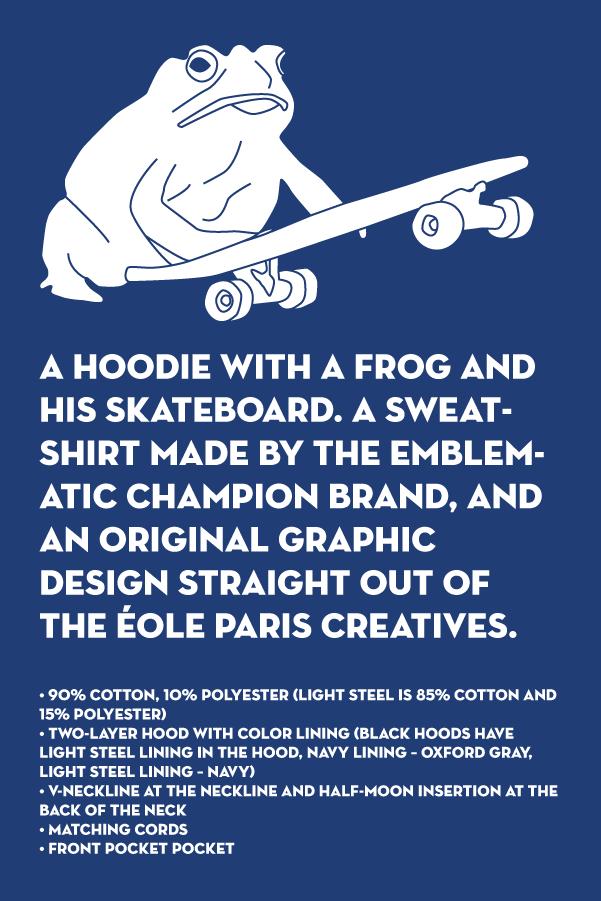 Grenouille et Skate Bleu - EOLE Bleu