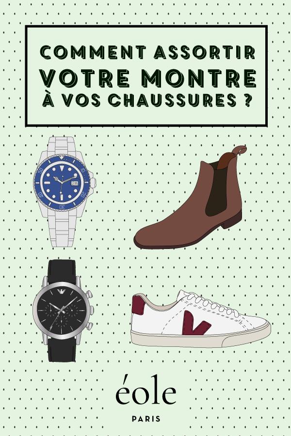 Comment assortir votre montre à vos chaussures ? EOLE PARIS