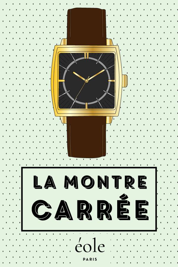 La montre carrée - EOLE PARIS P