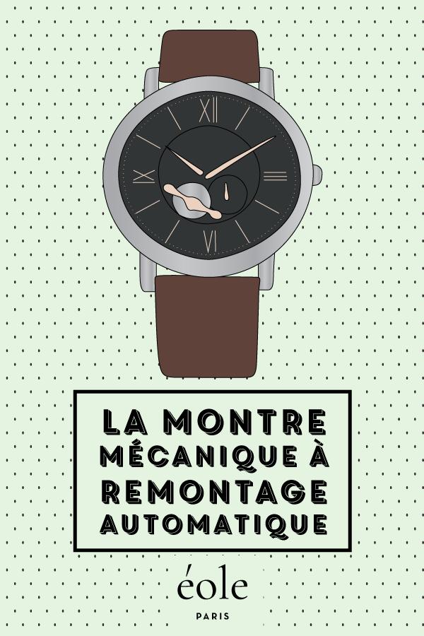 La montre mécanique à remontage automatique - EOLE PARIS P