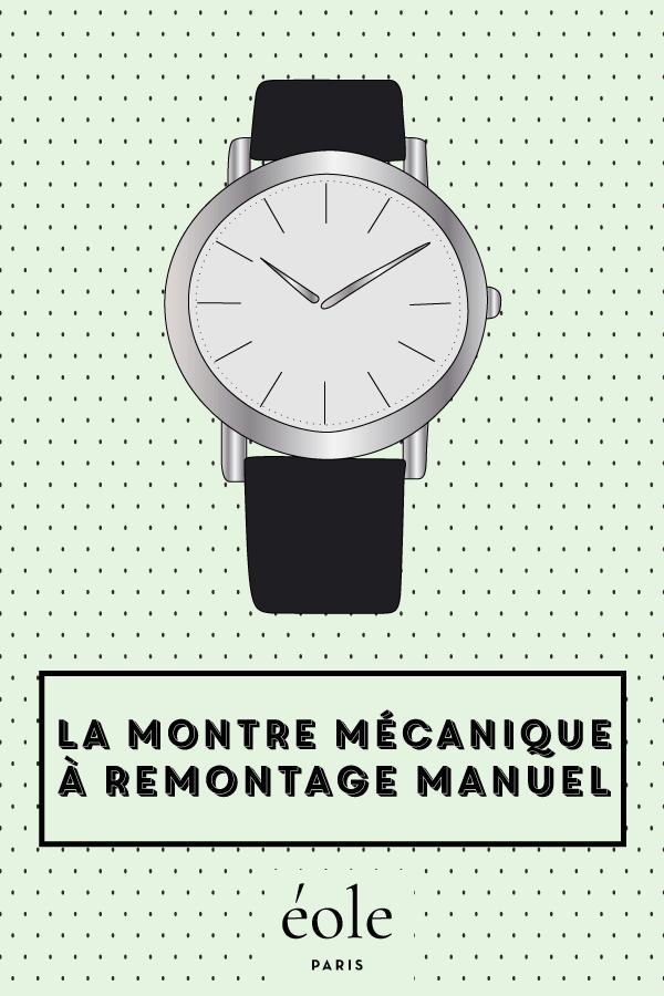 La montre mécanique à remontage manuel - EOLE PARIS P