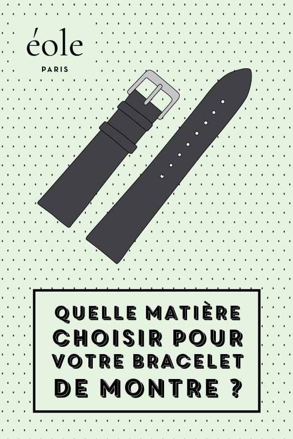 Quelles matières choisir pour votre bracelet de montre ? EOLE PARIS P