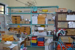 「物理実行室」 教材室のような使い方になっていた