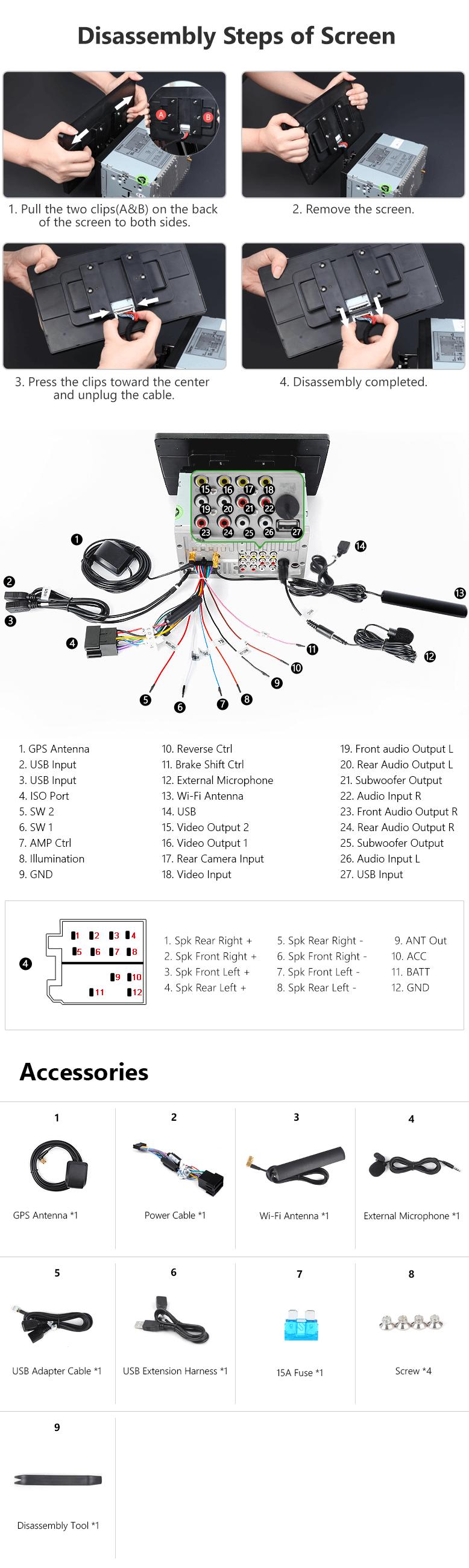 medium resolution of eonon ga2178 10 1 inch double din car navigation system android eonon double din wire diagram