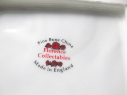 fine bone china miniature cheese or butter cheese by Florence collectibles