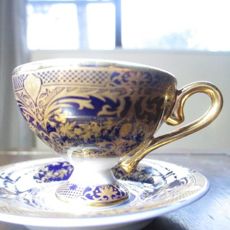 miniature cup an saucer made of the finest porcelain