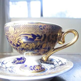 miniature cup an saucer made of the finest porcelain