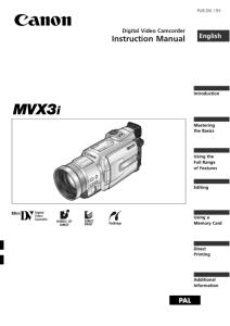 Canon MV750i / MV730i / MV700i / MV700 / MV690 instruction