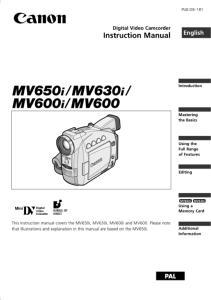 CANON MV650I MANUAL PDF