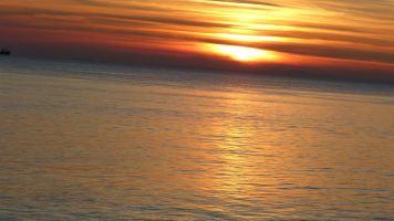 Ηλιοβασίλεμα επιστρέφοτας στην Πάτρα