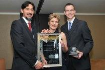 Nazeem Martin, Business Partners Limited; Job Creator of the Year: Madelé Ferreira, Mooihoek Boerdery; and Jan Steenkamp, Sanlam