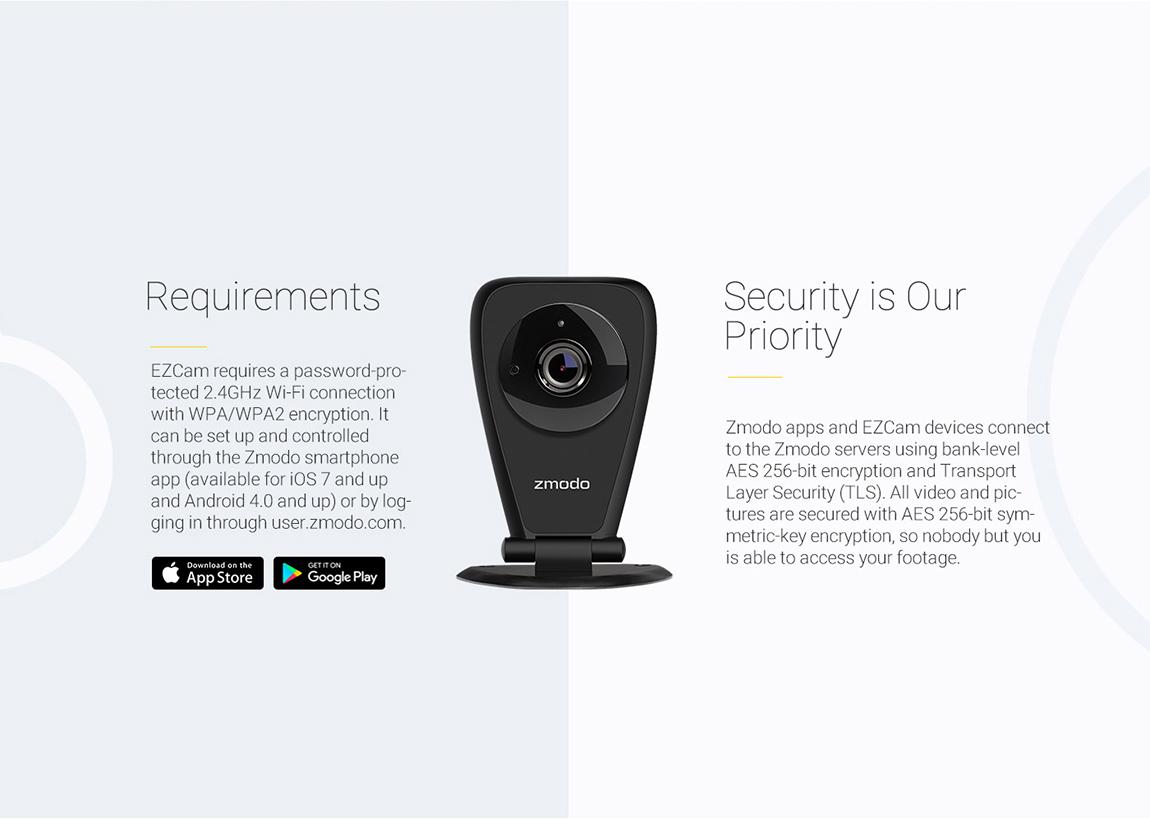 Zmodo EZCam Pro 1080p HD Wireless Home Security Camera