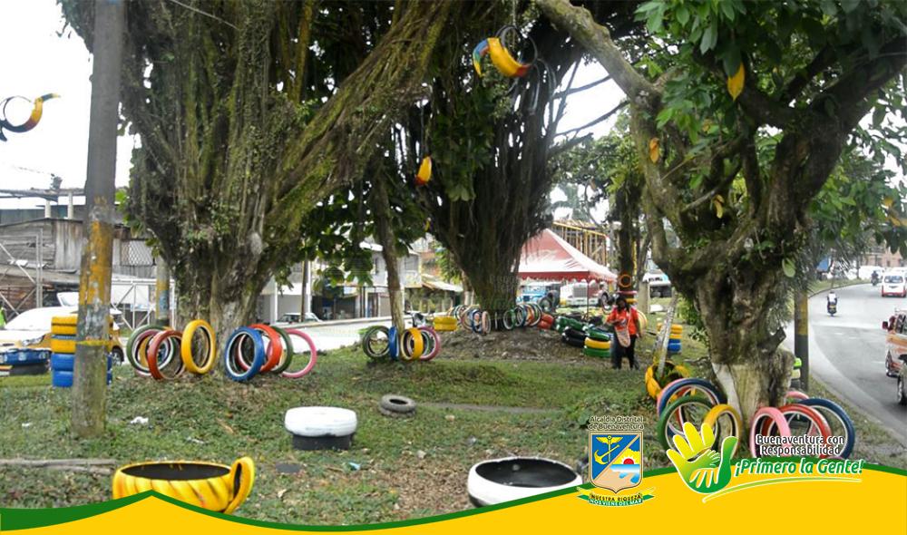 Con Material Reciclable, El EPA Embellece Separador de la Avenida Simón Bolívar