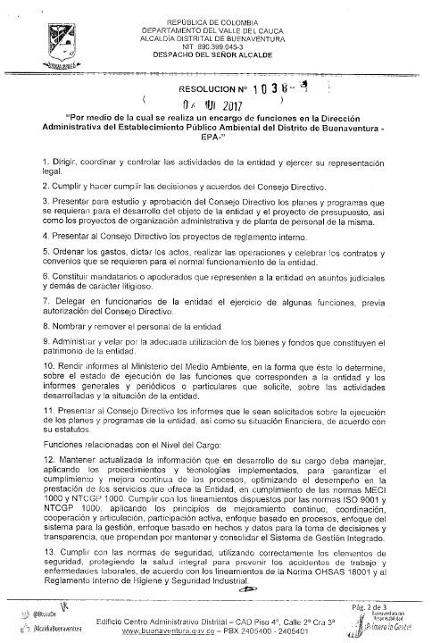 Decreto Nombramiento Dir. EPA (E) Hoja 2
