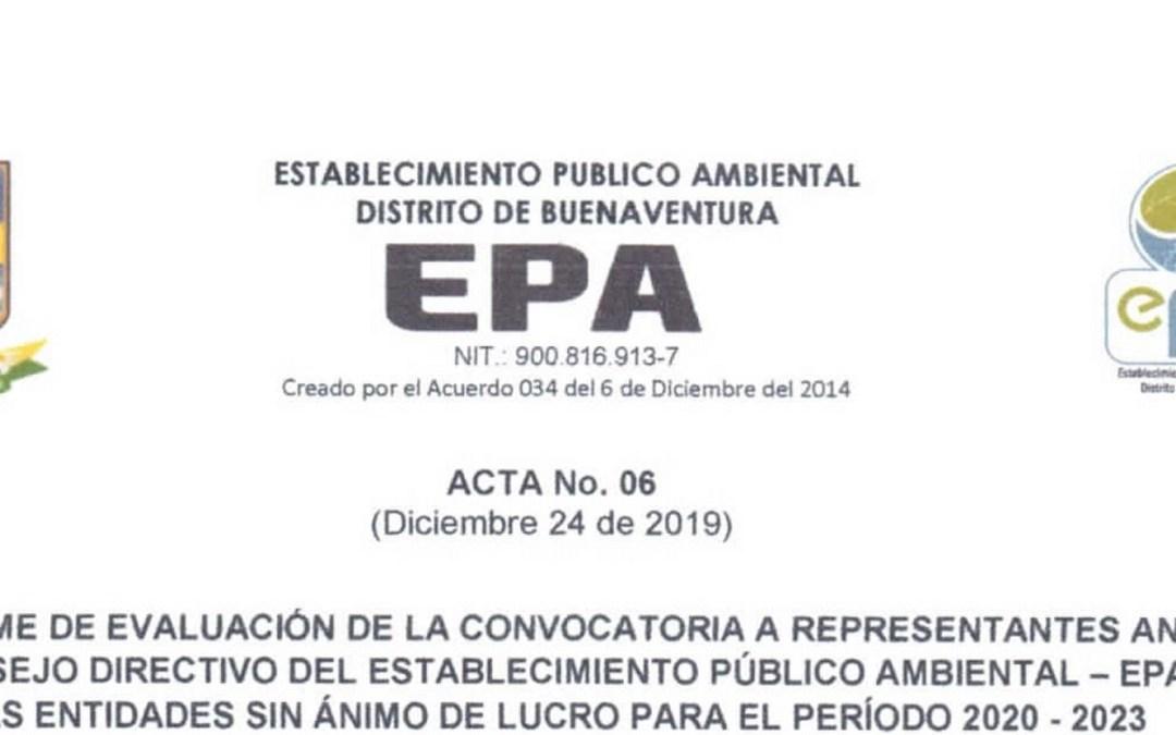 Informe evaluación de convocatoria para suplentes