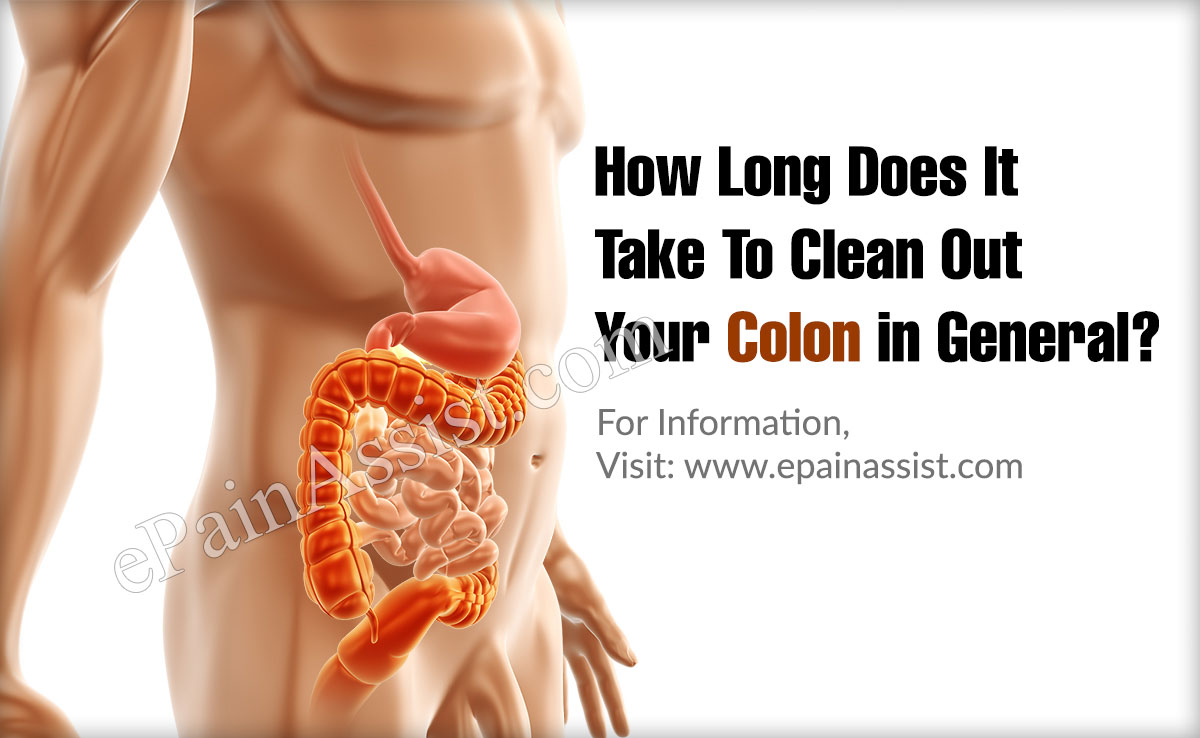 How Long Does It Take To Clean Out Your Colon in General