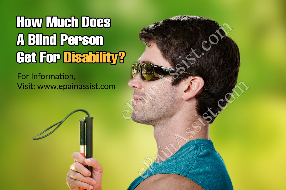 How Much Does A Blind Person Get For Disability