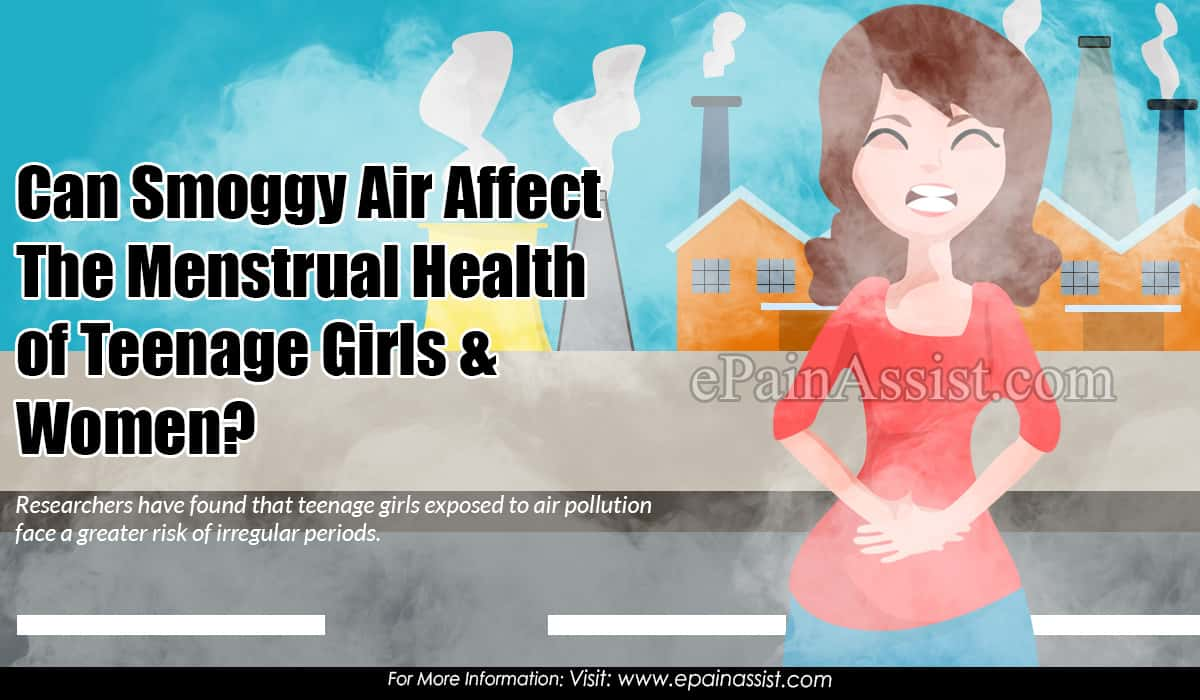 Can Smoggy Air Affect The Menstrual Health of Teenage Girls & Women