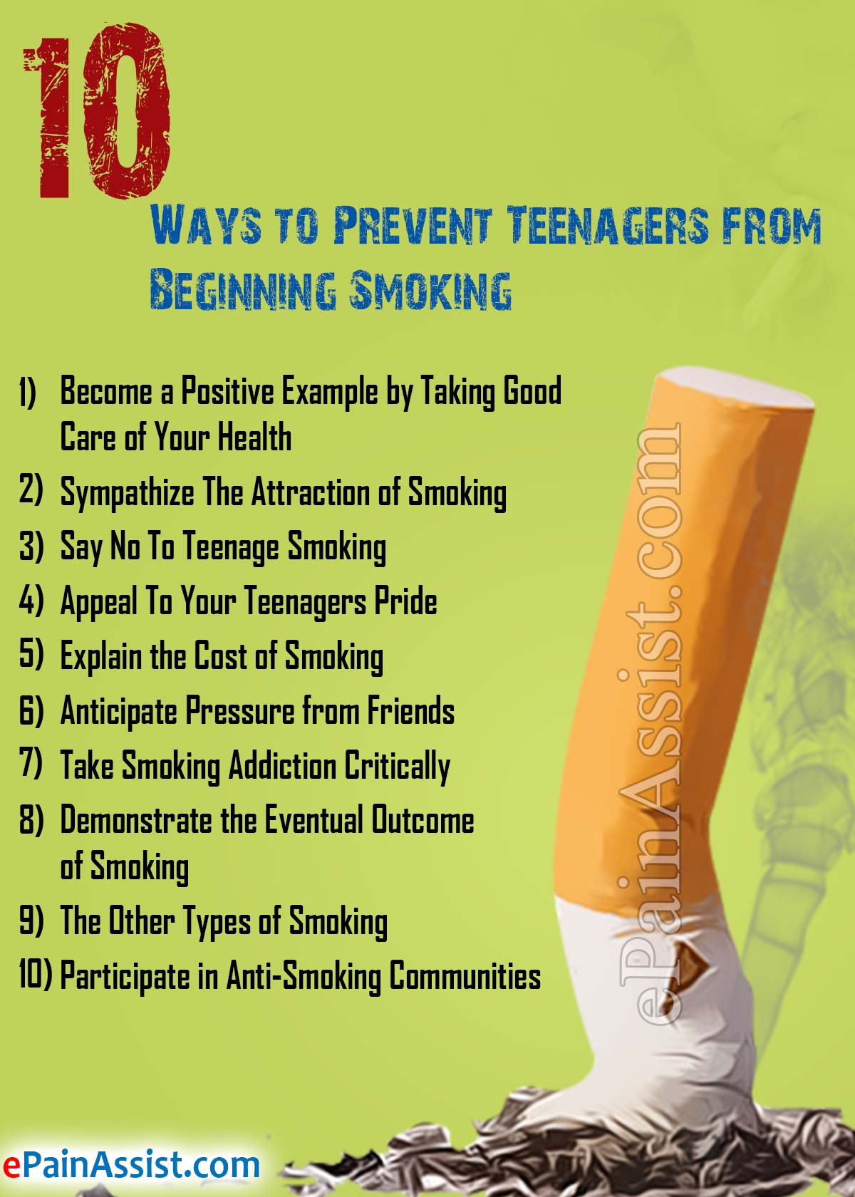 10 Ways to Prevent Teenagers from Beginning Smoking