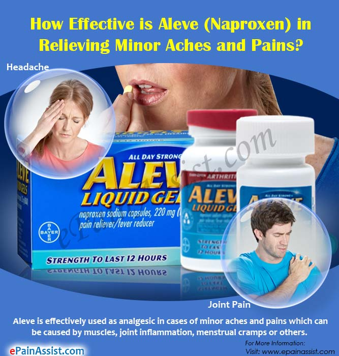 How Effective and Safe is Aleve (Naproxen) in Relieving ...