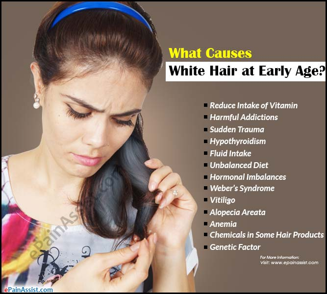 What Causes White Hair At Early Age Amp Remedies For It