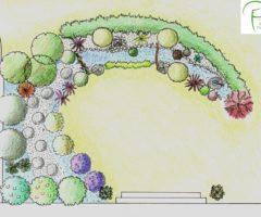 Epame paysages - conception dessin massif