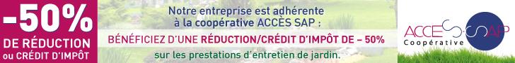 Epame Paysages - réduction crédit impêts Accès sap