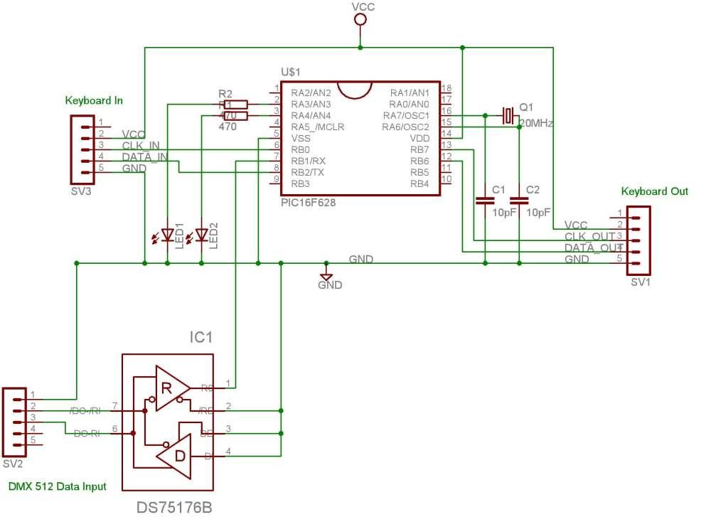 medium resolution of simple dmx wiring diagram wiring diagram databasedmx pc keyboard interface simple dmx wiring diagram