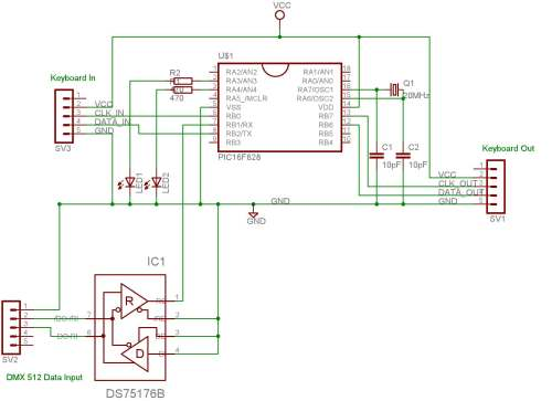 small resolution of simple dmx wiring diagram wiring diagram databasedmx pc keyboard interface simple dmx wiring diagram