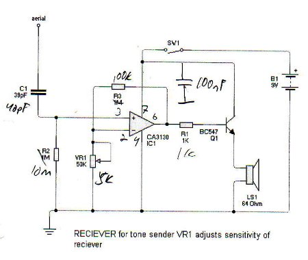 Cable Tracing Inductive Amplifier
