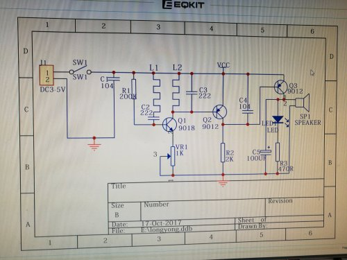 small resolution of the circuit is an oscillator built around q1 it normally oscillates and keeps q2 turned