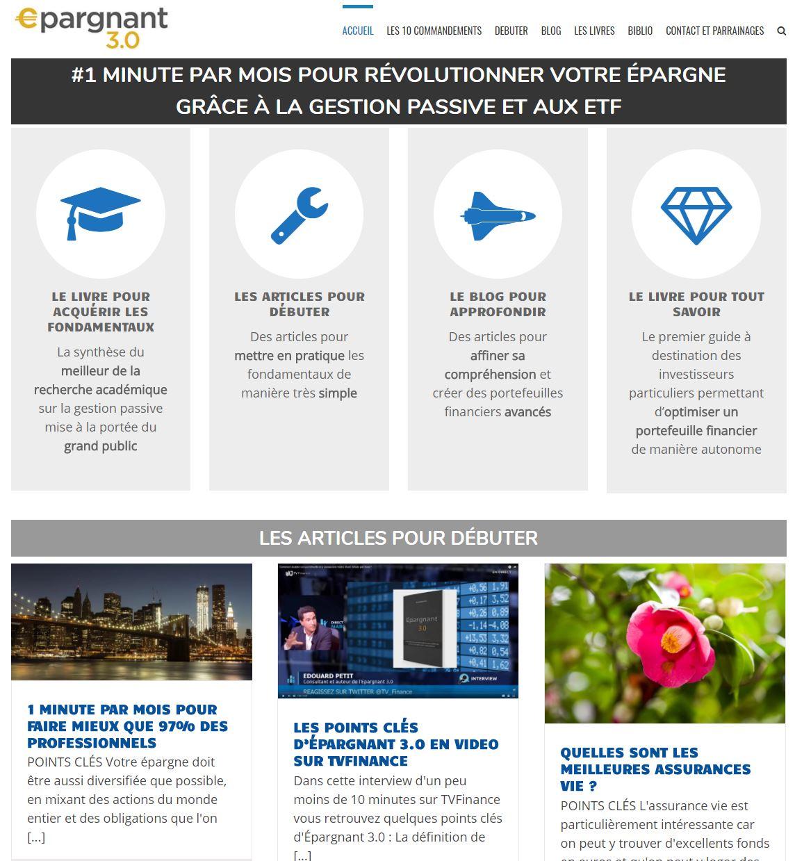 Epargnant 3.0 : blog ETF