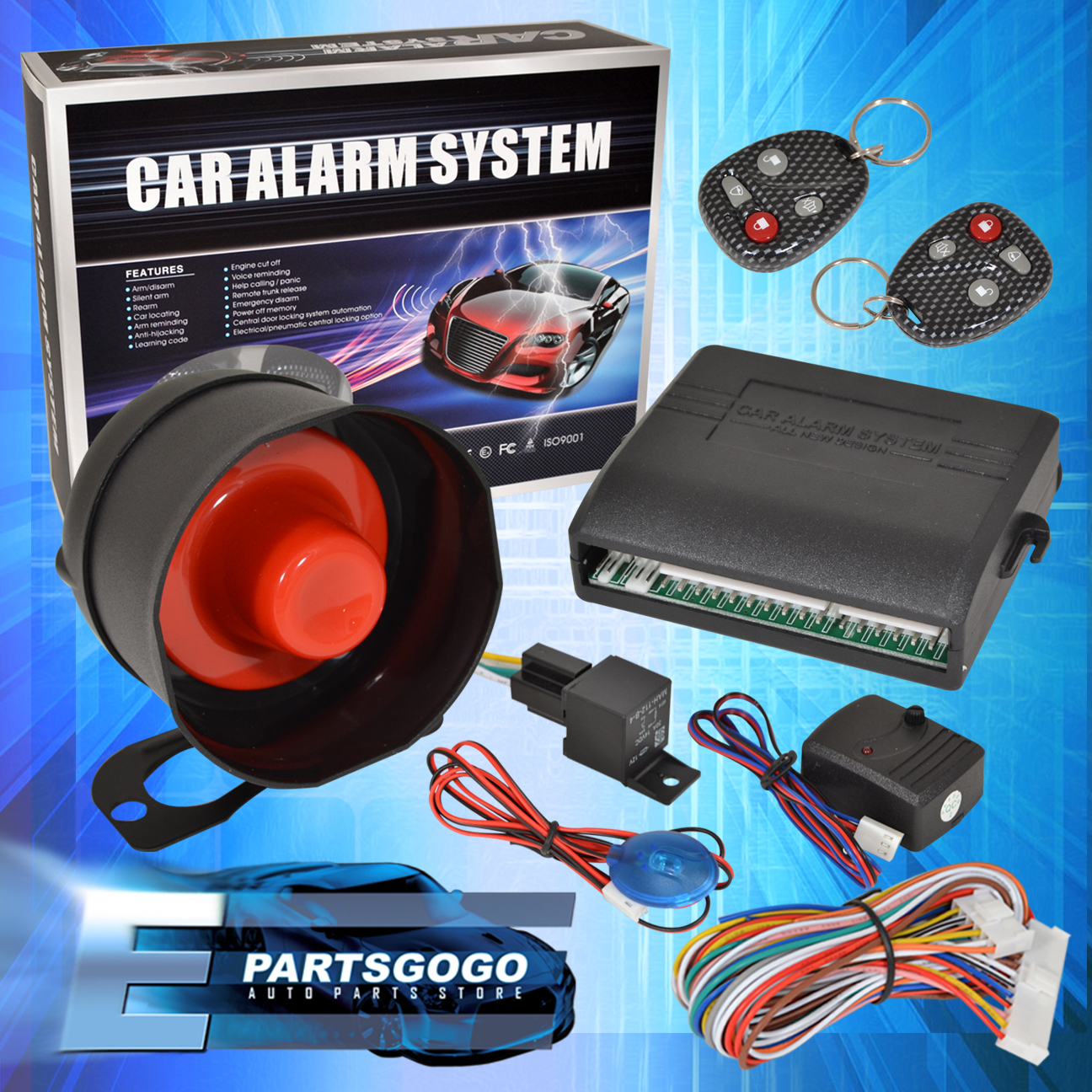 hight resolution of details about carbon fiber remote key security safety car alarm system for supra mr2 corolla