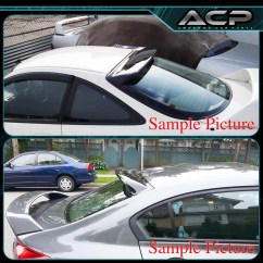 Toyota Yaris Trd Spoiler All New Kijang Innova G Mt 2007 2010 4dr Sedan Smoke Rear Roof Visor