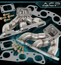 details about for jdm nissan skyline r32 r33 r34 gtr rb26 twin turbo stainless steel manifold [ 1296 x 1296 Pixel ]