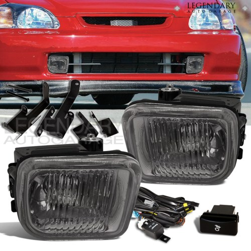 small resolution of details about 96 98 honda civic ek 2 3 4 dr jdm smokedd fog light harness switch wiring