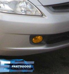 for 2003 2005 honda accord sedan 4 door jdm fog light amber lamp assembly kit [ 1296 x 1296 Pixel ]