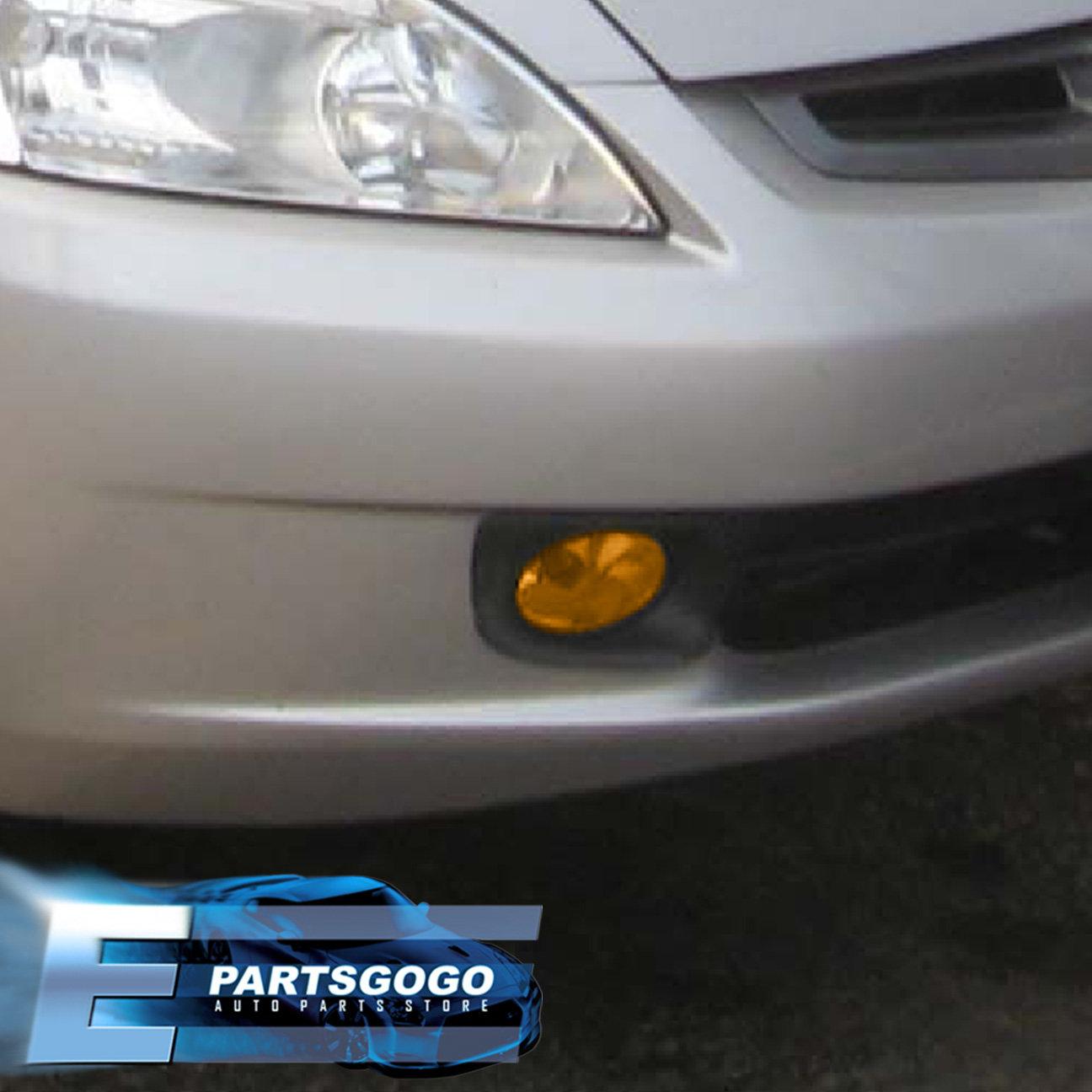 hight resolution of for 2003 2005 honda accord sedan 4 door jdm fog light amber lamp assembly kit