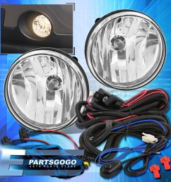 details about 07 13 sierra 1500 clear replacement driving fog lights lamps wiring harness [ 1296 x 1296 Pixel ]